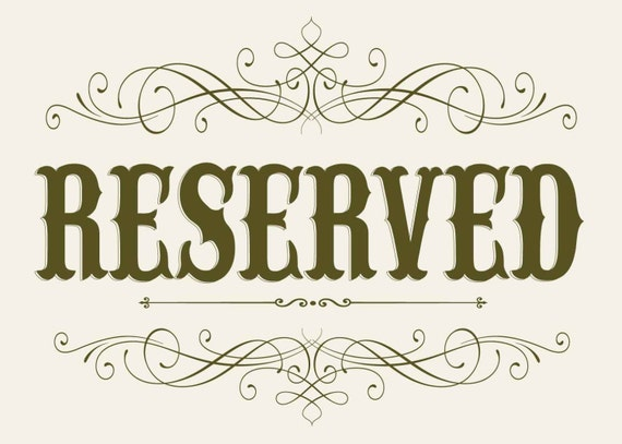 Handy image for reserved sign printable