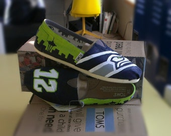 seahawks handpainted shoes