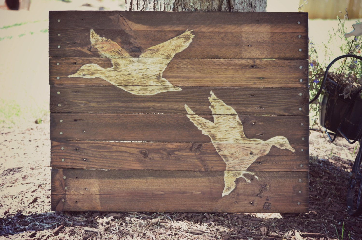 Duck Hunting Pallet Wood Art Reclaimed Wood By