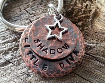 Personalized Pet ID Tag / Dog Tag  / Pet Tag / Pet ID Tag / Cat Tag / Custom Hand Stamped Pet Accessories / Dog Tag for Dogs