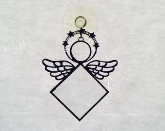 Beveled Glass Angel Suncatcher
