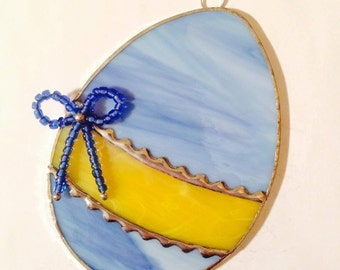 Stained Glass Easter Egg Suncatcher #2