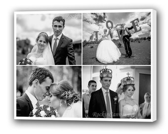 Wedding Photo Collage Gift Personalized Wedding Pictures Photo Collage Canvas Family Photo Collage/  Personalized Collage Art