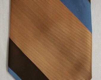 Men's vintage striped polyester wide neck tie