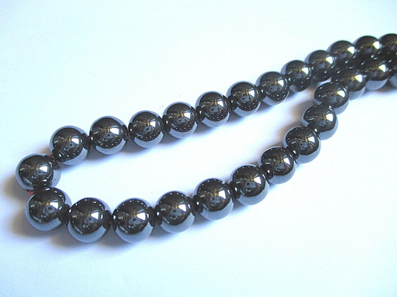 AAA+Natural Round Shape Stone Black Hematite Beads Round ...  |Hematite Beads
