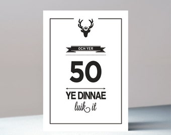 Och yer 50 - Scottish greeting card