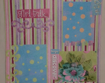 1 12X12 Premade Scrapbook Page: Girl Talk