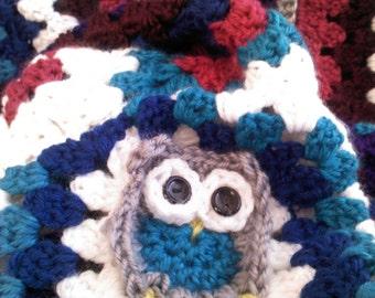 Owl granny squared owl afghan