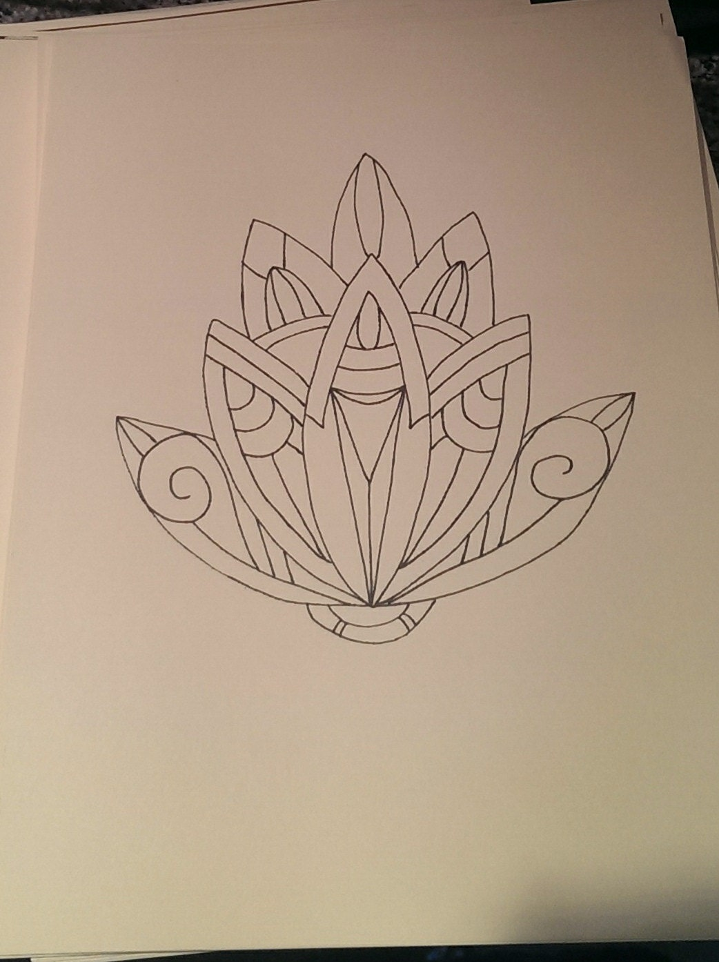 Lotus Art Flower Drawing
