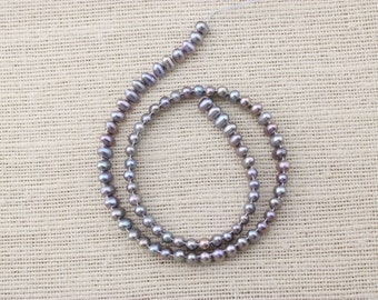 ETS-Z074 freshwater pearl, loose pearl bead, freshwater pearl strand rice pearl,  1 strand