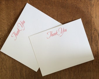Letterpress Thank You Notes Set of 10
