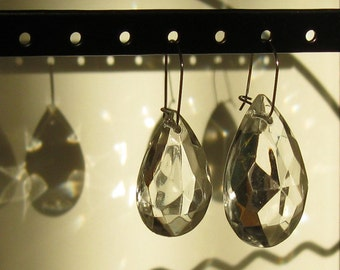Something Old, Something New - asymmetrical crystal bridal earrings #12 - outstanding price