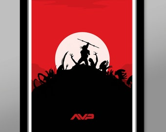 Aliens VS Predator - Minimalist Movie Poster - Print 146 - Home Decor