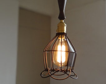 Steel Edison Cage Lamp - cage lamp - ceiling lamp - hanging lamp - edison bulb - industrial style - DIY ligthing set - 110V-250V