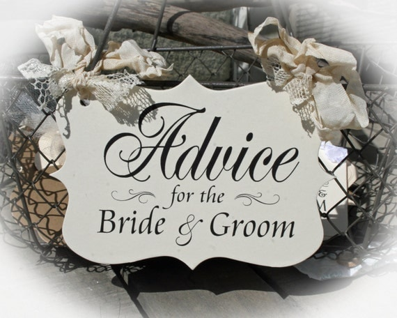 Advice For The Bride And Groom Sign-Bridal Shower Bridal