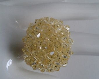 Swarovski crystal ring Yellow
