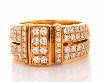 Di Modolo Diamond 18K Gold Wide Band Ring 14.1 Grams