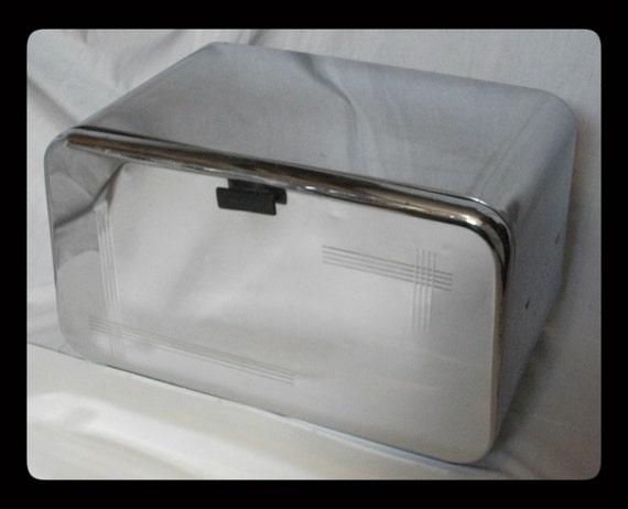 Vintage 50s Bread Box Breadette Chrome Breadbox Mid Century