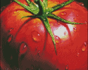 "Cross stitch pattern PDF ""Tomato"""