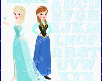 Frozen Clipart Set : Alphabet