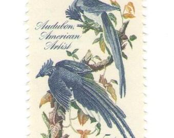 10 Unused 1963 Columbia Jays Vintage Postage Stamps Number 1241