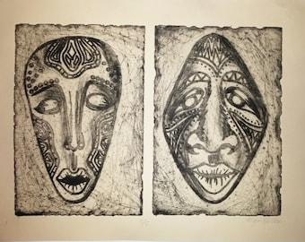 African Masks Prints