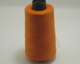 Orange Sewing Thread 5000yd Cone, General Use Polyester Thread  sku9333