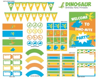 Dinosaur Party Printable Package - Instant Download