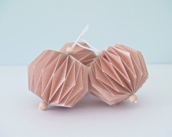 Set of 3 origami pendants - size S
