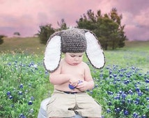 Crochet Bunny hat, Crochet Hat, with Big and Fluffy ears,5 colors to choose