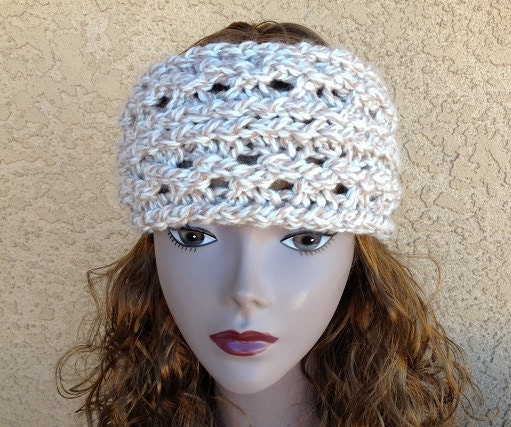 Knitted Ear Warmer Pattern Loom : Lace Ribbed Ear Warmer - a loom knit pattern