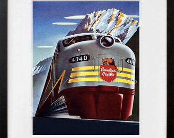 Train Art Travel Poster Railroad Print (TR70)