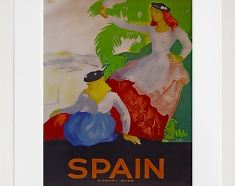Spain Art Print Travel Spanish Home Decor Poster (XR119)