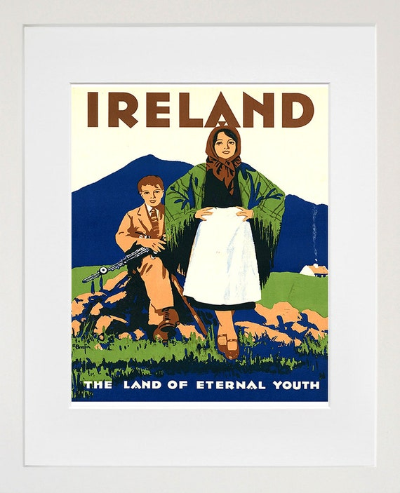 Ireland Art Print Travel Poster Irish Home Decor ZT264