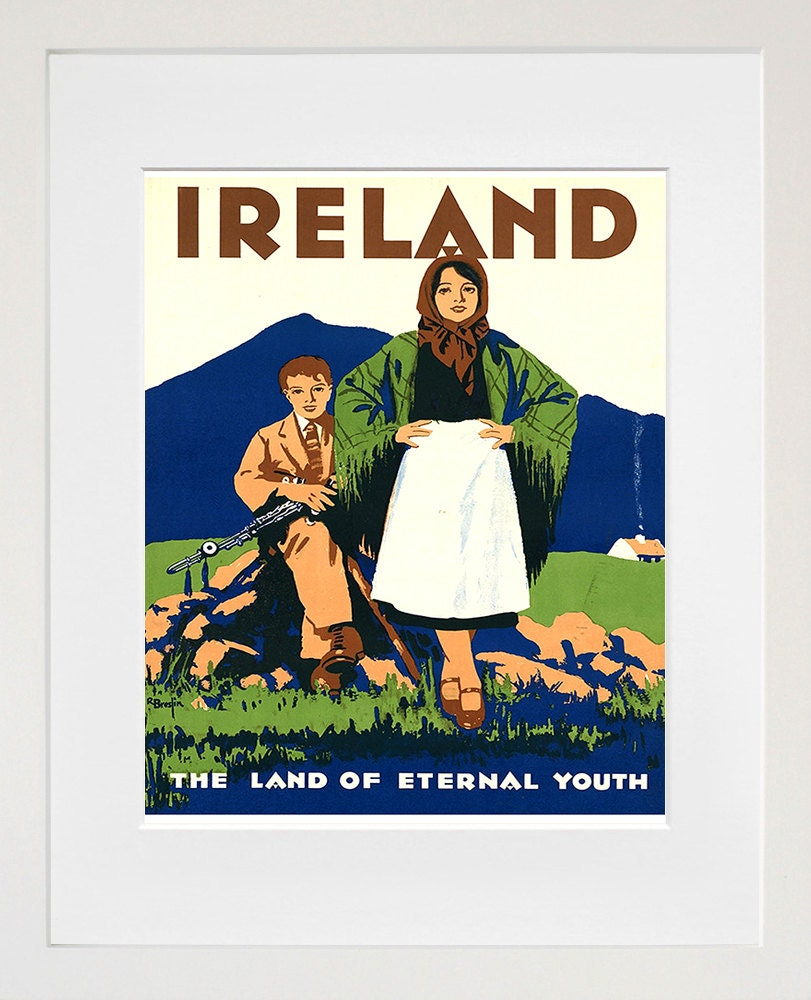 Ireland art print travel poster irish home decor zt264 for Irish home decorations
