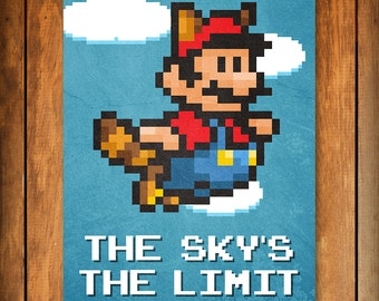 The Sky's the Limit - Super Mario Bros. 3 Poster