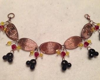 Disney inspired pressed penny bracelets.