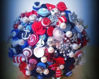Button Bouquet Deposit - Nautical/Rockabilly