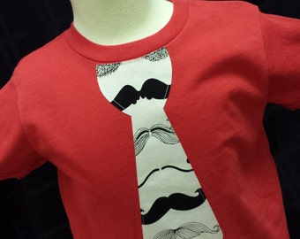 Mustache Tie Shirt