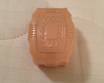 Vintage Pink Art Deco Celluloid Ring Box