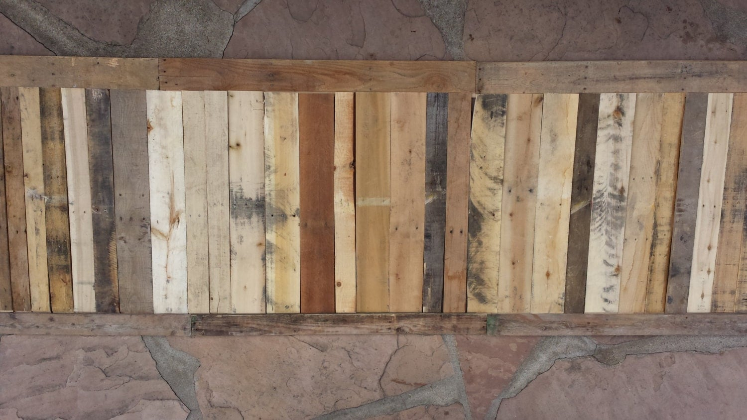 Amazing photo of Recovered Pallet Wood Wainscoting by SecondLifeWoodWorks on Etsy with #8D693E color and 1500x844 pixels