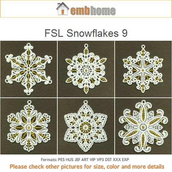 Fsl Snowflakes 9 Free Standing Lace Christmas Ornament Machine