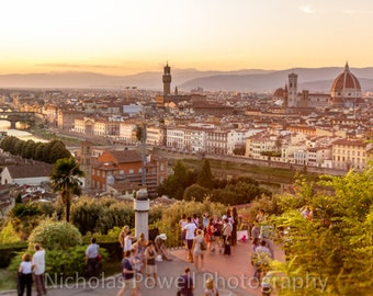 Sunset in Florence, Italy - Landscape photo print available in various sizes.
