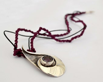Amethyst tear pendant