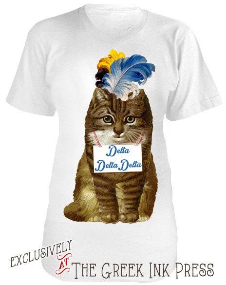 Meow design custom sorority t shirt aa2001 for Custom sorority t shirts