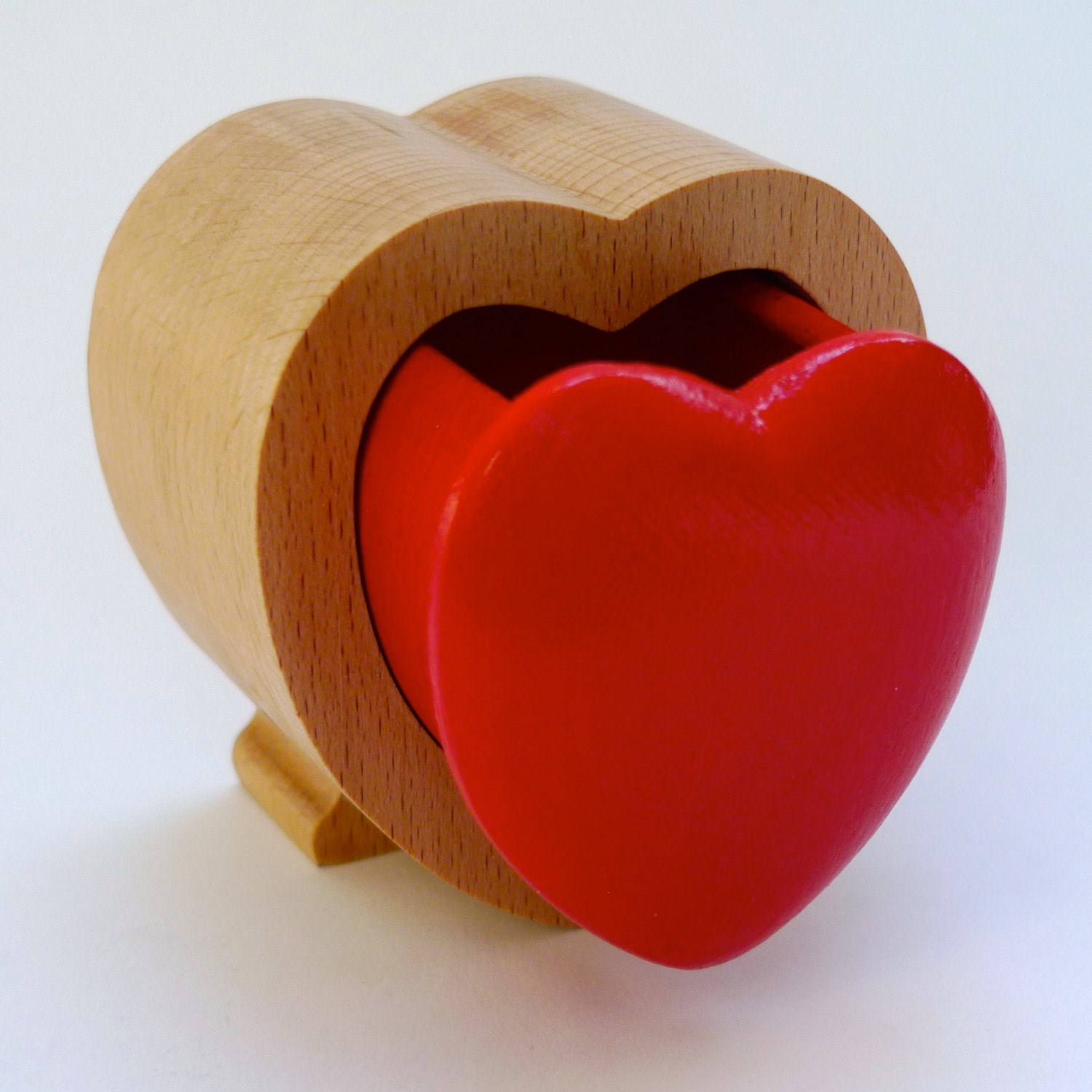 heart shaped jewellery box small wooden box for jewelry