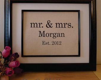 2nd Anniversary Cotton Gift - Wife Anniversary - Husband Gift - Housewarming Gift - Wedding Burlap Sign -cotton anniversary gift (mm109a)