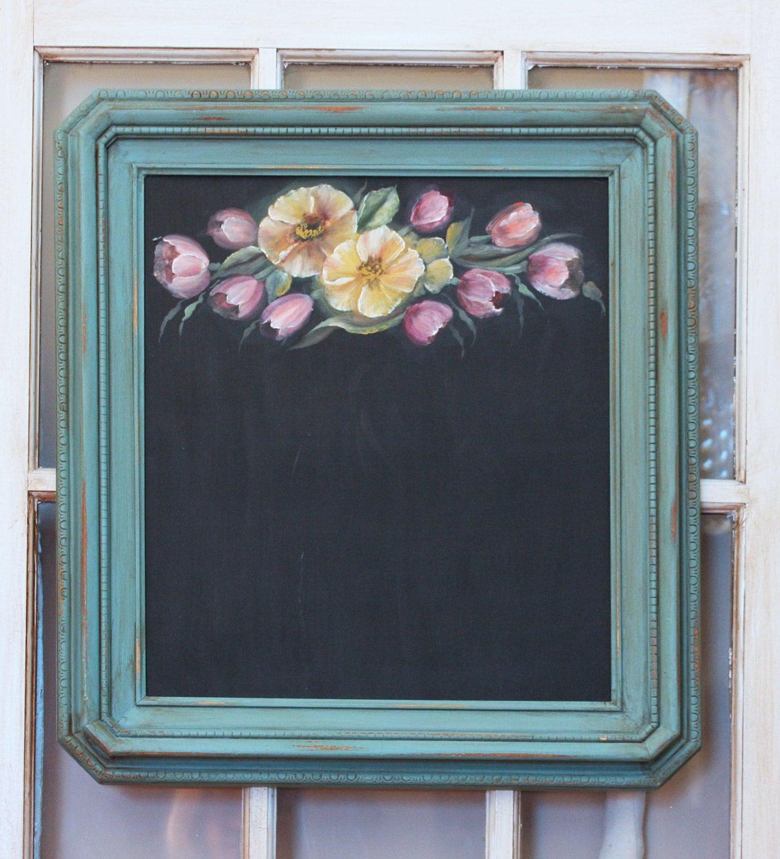 Kitchen Chalkboard: Framed Chalkboard Kitchen Chalkboard By WhimsyTinsandSuch