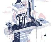 Machine Dreams Art Print 33x48 cm