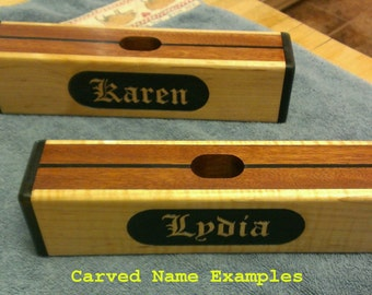 Carved Name on Croquet Mallet